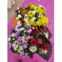 bouquet gaine assortie - .